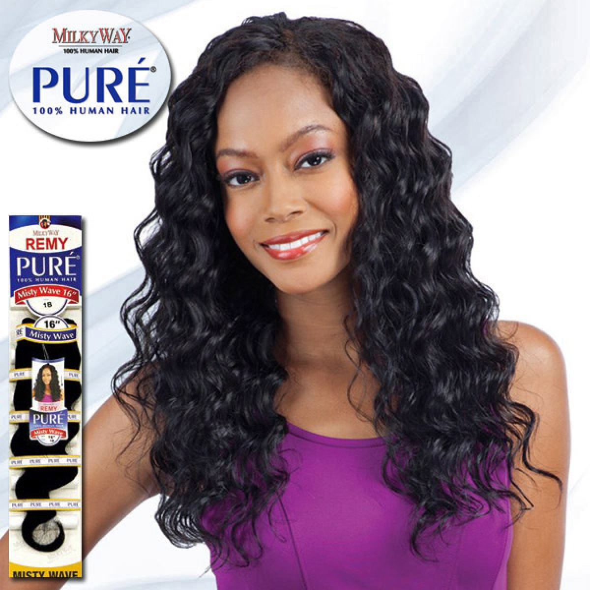 Milky Way Pure 100 Human Hair Weave Misty Wave