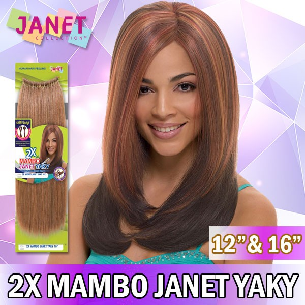 "Janet Collection Synthetic Braid_2X Mambo Janet Yaky 12"" & 16"""