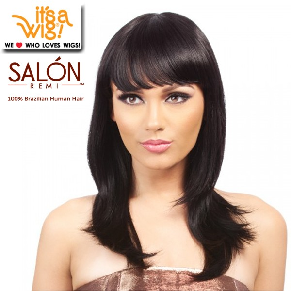 It's A Wig Salon Remi 100% Brazilian Human Hair Natural Full Wig_Alcasa