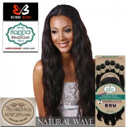 Bobbi Boss BonEla Brazilian Remy Unprocessed Virgin Hair_Natural Wave 7pcs multi pack 141618