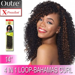 Outre X-Pression Synthetic Crochet 4 In 1 Loop Braid_Bahamas Curl 14""