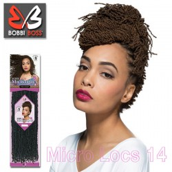 Bobbi Boss Synthetic Crochet Braids_Micro Locs 14""