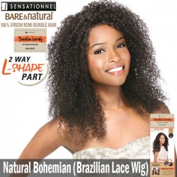 Sensationnel Bare & Natural Unprocessed 100% Virgin Remi Brazilian Lace Wig_Natural Bohemian