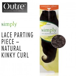 Outre Simply Brazilian Lace Parting Piece_Natural Kinky Curl 10""