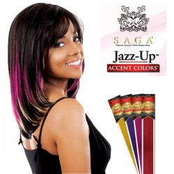 Saga Remy Human Hair Piece_Jazz Up Accent Colors