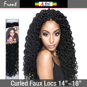 "Afri Naptural Crochet Loop Braid_Curled Faux Locs 14""~18"""