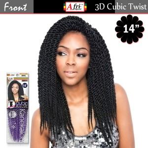 IsisHair Afri Naptural 3D Jumbo Split Twist Kanekalon Braid_ Cubic Twist Medium 14""