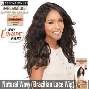 Sensationnel Bare & Natural Unprocessed 100% Virgin Remi Brazilian Lace Wig_Natural Wavy