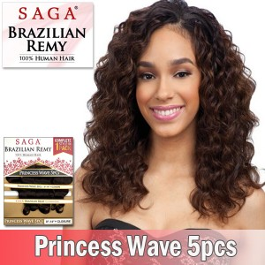 Saga Brazilian Remy 100% Human Hair_Princess Wave 5pcs