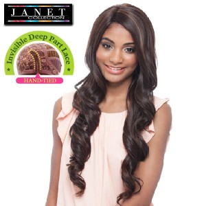 Janet Collection Synthetic Lace Front Wig Super Flow Deep Part_Elveen