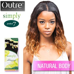 Outre Simply 100% Unprocessed Brazilian Human Hair Perfect 7 1 pack_Natural Body