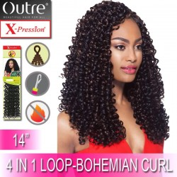 Outre X-Pression Synthetic Crochet 4 In 1 Loop Braid_Bohemian Curl 14""