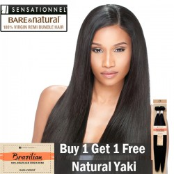 "Sensationnel Bare & Natural 100% Virgin Remi Bundle Hair_Natural Yaki(10""~20"")"