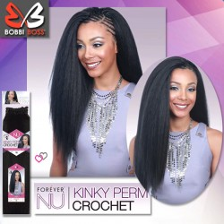 Bobbi Boss Forever NU Synthetic Crochet Braid_Kinky Perm 18""