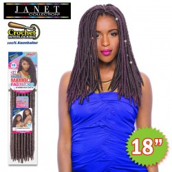 Janet Collection Noir 2X Synthetic Crochet Braid_Havana Mambo Faux Locs 18""