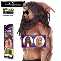 """Janet Collection 2X Synthetic Crochet Braid_Mambo Faux Locs Genderless 18"""""""