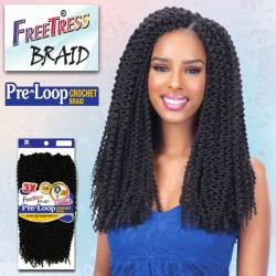 Freetress 3X Pre-Loop Crochet Synthetic Braid_Island Twist 16""