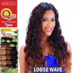Shake N Go Que Malaysian Human Hair Blend Weave_Loose Wave 7pcs