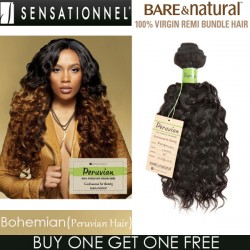 "Sensationnel Bare & Natural 100% Virgin Remi Bundle Hair_Bohemian(Peruvian Hair)(10""~20"")"