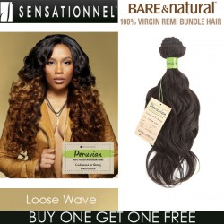"Sensationnel Bare & Natural 100% Virgin Remi Bundle Hair_Loose Wave(Peruvian Hair)(16""~20"")"
