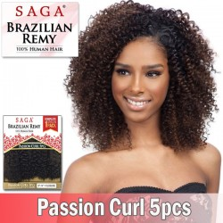 Saga Brazilian Remy 100% Human Hair_Passion Curl 5pcs