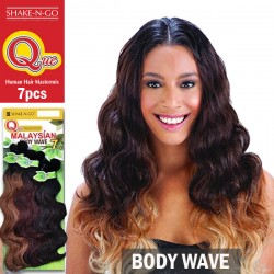 Shake N Go Que Malaysian Human Hair Blend Weave_Body Wave 7pcs