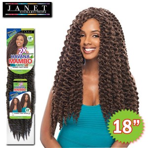 Janet Collection Noir 2X Synthetic Braid_Havana Mambo Twist 18""