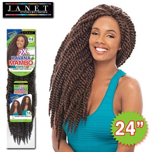 Janet Collection Noir 2X Synthetic Braid_Havana Mambo Twist 24""