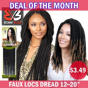 "Bobbi Boss African Roots Synthetic Crochet Braid_Bomba Faux Locs Dread12""~20"""