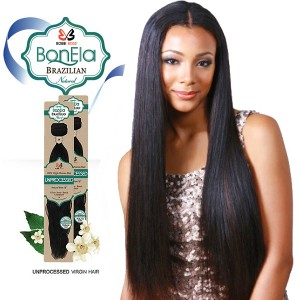 <Deal of the month>Bobbi Boss BonEla Brazilian Natural Virgin Hair Weave_Natural Straight