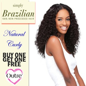 """<BOGO>Outre 100% Non-Processed Brazilian Hair Simply_Natural Curly(12""""~18"""")"""