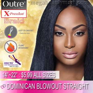"Outre X-Pression Kanekalon Crochet Braid_Dominican Blowout Straight 14""~22"""